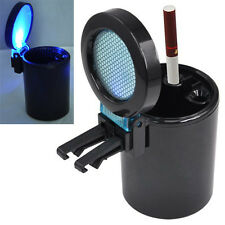 Car Auto LED Light Smokeless Ashtray Cigarette Holder LW