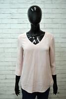 Maglia 100 % SETA Donna LIU JO Taglia S Maglietta Blusa Manica 3/4 Shirt Woman