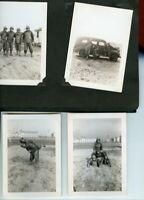 Vintage Photo Album-30 Snapshot Photo's-15 Are Military-1943-1944