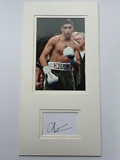 Amir Khan Hand Signed Photo Mount Display Boxing Champion.