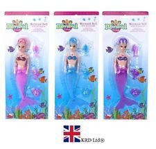 """9"""" Sirena Muñeca con Accesorios Niños Niñas mágicas pequeños Ariel Juguete Regalo Nuevo Reino Unido"""