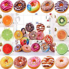 Donut Früchte Essen 3D Plüsch Kissen Spielzeug Sofa Sessel Auto Sitz Matte