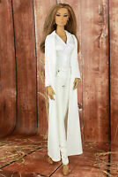 ELENPRIV ivory suede maxi cardigan for Fashion Royalty FR:16 ITBE dolls