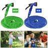 Expandable Flexible Garden Water Hose w/ Spray Nozzle for RV 25 50 75 100 Feet