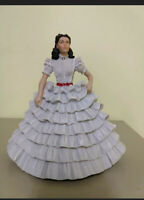 Franklin Mint Vivien Leigh Scarlett O'Hara Gone with the Wind Figurine 1967 MGM