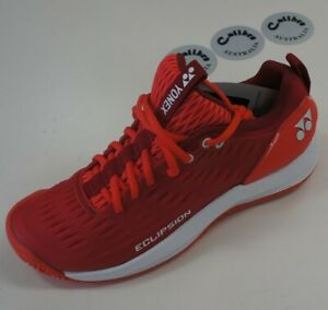 Yonex 3-Layer Power Cushion ECLIPSION 3 Ladies Tennis Shoes, All Courts, RED