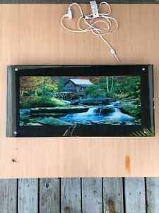 "Vintage Waterfall Mirror Light with Water & Nature Sounds Large 39""x19"" Retro!"