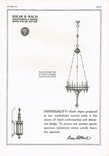 1925 BIG Vintage Oscar B. Bach NY St Mary's Chapel Light Lighting Art Print Ad