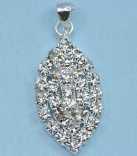 Collane e pendagli di bigiotteria ovale d'argento di cristallo