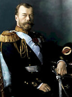 Dream-art Oil painting male portrait tsar Nicholas II seated with sword canvas