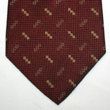 NEW Nautica Silk Neck Tie Burgundy with Gold Beige Squares Pattern 431