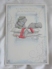CHRISTMAS CARD TO MUM FROM SON & DAUGHTER IN LAW ME TO YOU TATTY TEDDY CUTE