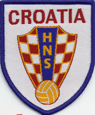 Croatia 80's Football Badge Patch 7.5 x 6.3cm