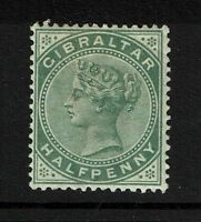 Gibraltar SG# 8, Mint Hinged, Hinge Remnant, Dull Green - Lot 052117