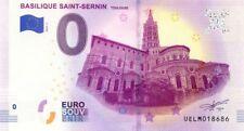 31 TOULOUSE Basilique Saint-Sernin, 2019, Billet Euro Souvenir