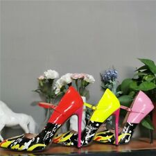 Women High Heels Pointed Toe Pump Fashion Stiletto Buckle Shoes Work Party Shoes