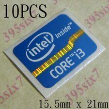 10 Pcs Intel Core i3 Sticker 15.5mm x 21mm 2011 Laptop Version