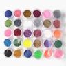 24 Mixed Colors Nail Art Nail Glitter Powder Pots Tips Decorations Home DIY