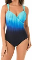 Miraclesuit TWILIGHT Belle Trois Siren Tummy Control One Piece Swimsuit, US 16