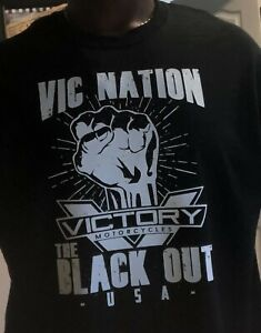 "Victory Motorcycle T-Shirt ""BLACK OUT"""