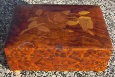 Alte Spieluhr Holz  mit Intarsien