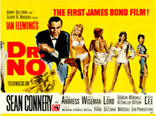 """16mm Feature Film: JAMES BOND 007 """"Dr. No"""" (1962) SEAN CONNERY - Mylar"""