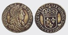 FRANCIA - LUIGI XIV 1643-1715  -AG/ LUIGINO 1660   PARIGI PARIS