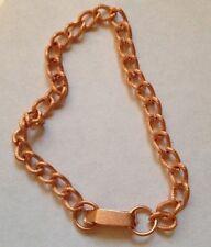2 x Vintage CCS Fancy Curb Chain Bracelets - approx 7.5 inches