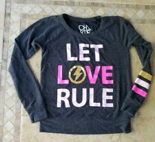 Women's chaser let Love Rule sweat shirt size XS