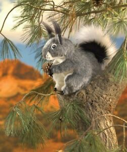 NEW PLUSH SOFT TOY Folkmanis 3101 Abert's Grey Squirrel Full Body Hand Puppet