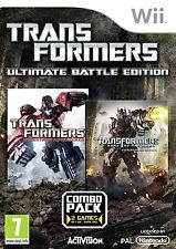 JUEGO WII TRANSFORMERS MISSION auf CYBERTRON + Dark of the moon Paquete Doble