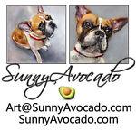 Sunny Avocado Art