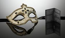 original venezianische Maske Karneval Maskenball Augenmaske Handmade nero-gold