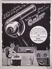 PUBLICITÉ 1930 CALOR POUR SÉCHER LES CHEVEUX DOUCHE ÉLECTRIQUE AIR - ADVERTISING