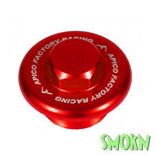 Apico Oil Filler Cap Plug Honda CR 80 85 125 250 500 90-07 Billet Alloy Red