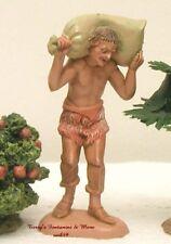 "Fontanini Depose Italy 4"" Jarius Carrying Sack Nativity Village Figure New No Bx"