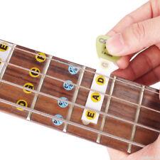 2Pcs Guitar Bass Fretboard Scale Sticker Fingerboard Note Label Fret Stickers WM