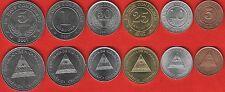 Nicaragua set of 6 coins: 5 centavos - 5 cordobas 2002-2007 UNC