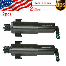 2x new Left Right Headlight Washer Nozzle Cylinder For BMW E90 320i 328i 335i