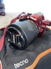 Nikon D3200 DSLR Red - AF-S 18-105mm VR DXLens 9k Shots Only, 32GB SD card & Bag