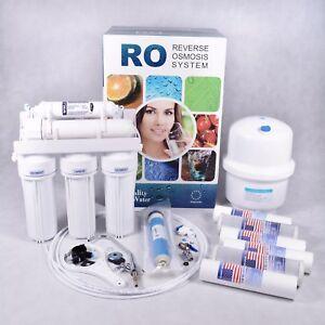 Umkehrosmoseanlage Trink Wasserfilter Osmose Membran +Ersatz Kartuschen Patronen