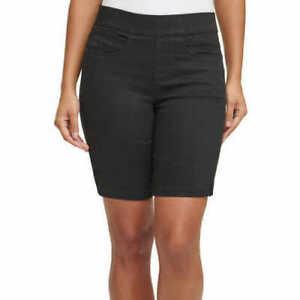 DKNY Ladies' Pull On Comfort Stretch Denim Bermuda Shorts Black Size Small