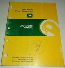 John Deere 1650 Series Drawn Chisel Plow Operators Owners Manual Original Ao Jd