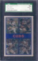 Greg Maddux Rafael Palmeiro 1987 Sportflics Cubs Preview card SGC 92 BGS PSA 8.5