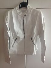 Giacca bianca white jacket ecopelle simil pelle pimkie 46 L M style biker