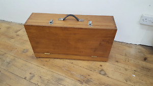 "Lovely Vintage Wooden Toolbox 29 1/2"" x 8"" x 16"" 40682"