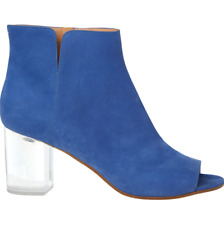 BNIB Maison Martin Margiela Blue Suede Lucite Perspex Heel Ankle Boots UK 7 40