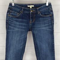 CAbi Skinny Womens Size 2 Stretch Blue Faded Dark Wash Bootcut Denim Jeans EUC