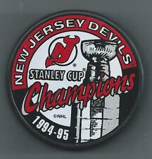 94/95 Stanley Cup Champions  New Jersey Devils - Souvenir Hockey Puck
