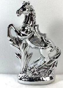ITALIAN SILVER HORSE ROMANY BLING ORNAMENT CERAMIC CRUSH DIAMOND DECOR GIFT